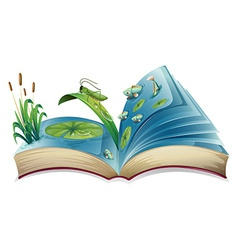 Pop-up book vector