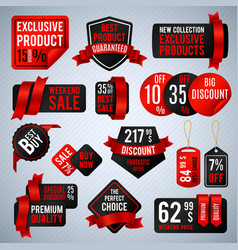 price tags special business offer labels and vector image