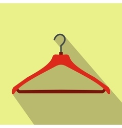 Red coat hanger flat icon vector image
