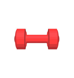 red heavy dumbbell with round cylindrical handle vector image