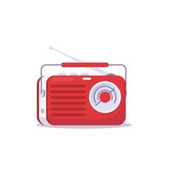 retro red radio vector image