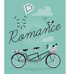 Romantic Tandem Bike vector image