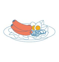 Sausage hotdog meat vector