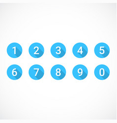 set of blue number icons vector image
