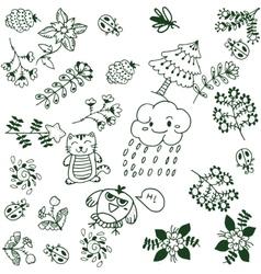 Simple flower doodle art vector