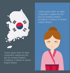 south korea infographic design vector image