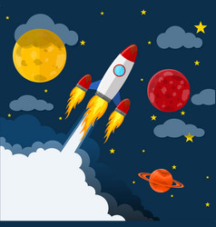 space cute background vector image