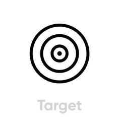 Target icon editable line vector