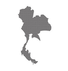 thailand outline map vector image