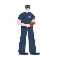 Thank you essential workers policeman vector