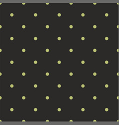 tile pattern with mint green dots on black vector image