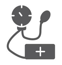 Tonometer glyph icon medicine and health vector