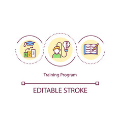 Training program concept icon vector