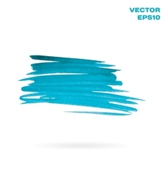 Turquoise watercolor hand painted shape design vector
