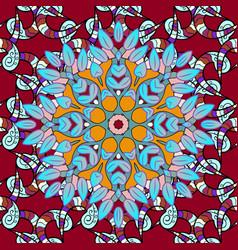 unusual ornament decoration boho seamless pattern vector image