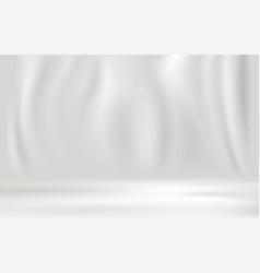 white luxury fabric background with copy space vector image