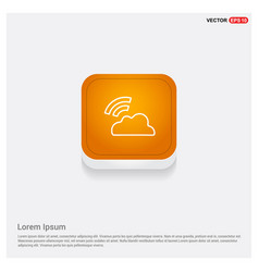 wifi signal icon orange abstract web button vector image