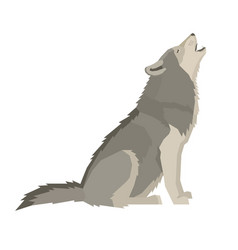 wolf forest wildlife animal geometric style vector image