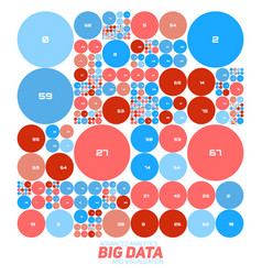Abstract colorful financial big data graph vector