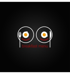 breakfast food scrambled menu design backgraund vector image
