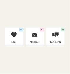 Likes messages comments notifications vector