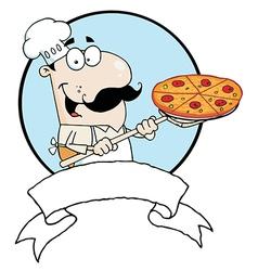 Male Pizzeria Chef vector image