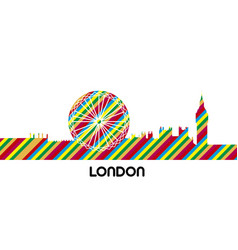 skyline of london vector image vector image