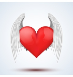 wings and heart vector image