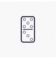 domino game simple line icon game thin linear vector image