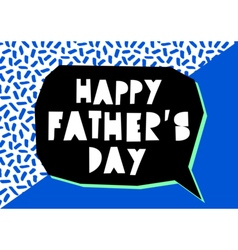 Fathers day card design vector