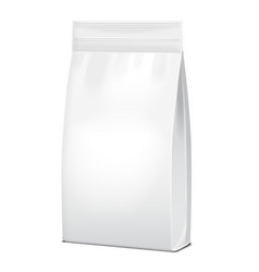 Foil or paper food or household chemicals white vector