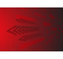 Hi tech red background vector image