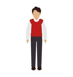 man sweater casual vector image