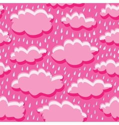seamless pattern of clouds and rain vector image
