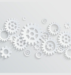 3d gears and cogs background vector image vector image