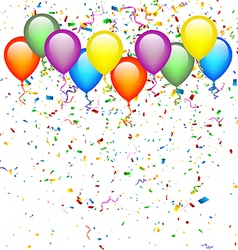 Balloons with Confetti vector image vector image
