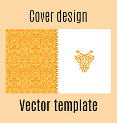 cover design with colored arabic pattern vector image vector image