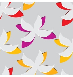 Flower cut out of paper Seamless vector image vector image