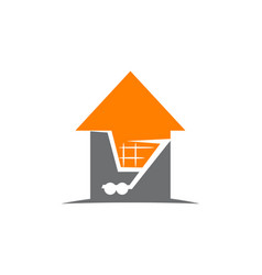 home cart vector image