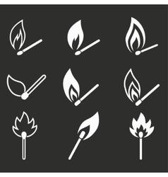 Match icon set vector image