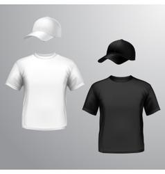 Mens t-shirt baseball cap vector image vector image