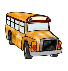 school bus transport vehicle service elementary vector image