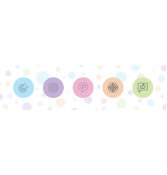 5 perfect icons vector