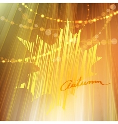 Autumn background with gold leaf vector image