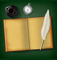 blank old diary for writing vector image