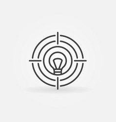 bulb target line icon lightbulb as a vector image