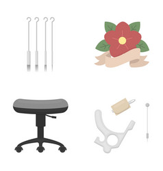 Chair on rollers needles for tattoo and other vector