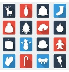 Christmas icon set Flat design vector