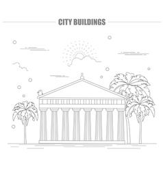 City buildings graphic templateAcropolis vector