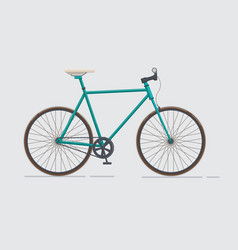 Classic urban bike city road bicycle vector